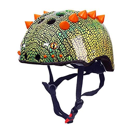 Kaper Go 3D Dinosaurier Modellierung Kinder Jugend Sport Reiten Fahrrad Skateboard Rollschuhlaufen Balance Auto Helm (Size : S)