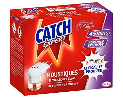 petit un compact Diffuseur électrique Expert Catch Anti-moustique et Mosquito Tiger – 45 Nuits -…