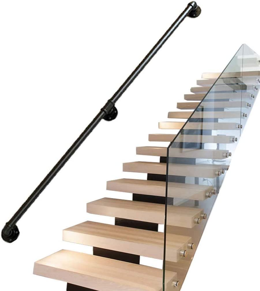 Black Iron Stair Handrail Home low-pricing Against Loft Interior Safet Wall Nashville-Davidson Mall