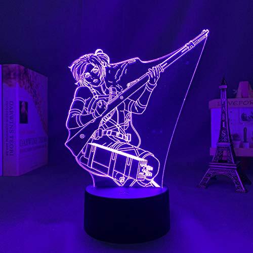 Luz De Ilusión 3D Luz De Noche Led Titan 4 Animación De Ataque, Decoración De Dormitorio Lámpara De Mesa Pequeña, Regalo De Cumpleaños Para Niños