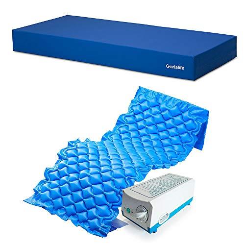 510mSSUB4RL - Gerialife® Kit antiescaras | Colchón sanitario impermeable HR | Colchón antiescaras de aire (90x190)