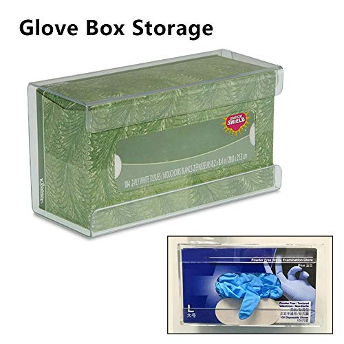Cokeymove Caja de Almacenamiento de Guantes Caja de exhibición de Guantes Soporte de Almacenamiento Caja de pañuelos médicos Dispensador de Guantes de acrílico Montable en la Pared Inteligente