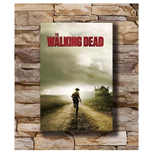 Lomoko The Walking Dead Season Two TV Character Cover Posters Canvas Painting Wall Art Picture para la Sala de Estar Decoración del hogar Impresión en Lienzo 50x70cm sin Marco