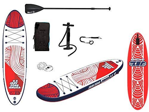 JBAY.ZONE 29001, Tavola Stand Up Paddle SUP Gonfiabile, Multicolore, 10 x 297 x 81cm