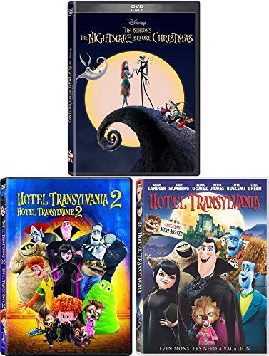 Monster Mix Jack Skellington Nightmare Before Christmas Tim Burton Disney DVD with Hotel Transylvania Part 1 & 2