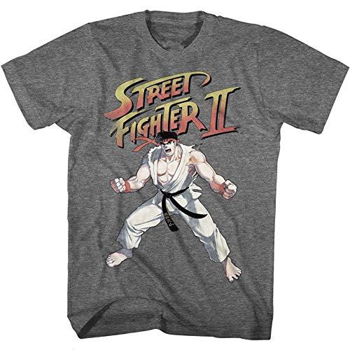 Skyey Camiseta con gráfico de Moda Ryu para Hombre Street Fighter