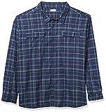 Columbia Silver Ridge 2.0 - Camisa de Manga Larga para Hombre, diseño a Cuadros, Color Plateado, Hombre, Silver Ridge 2.0 Plaid L/S Camisa, 183891, Líneas de Rejilla de la Marina Colegiada, 2X