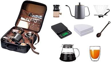 حقيبة ادوات القهوه المختصه طقم يحتوي على 8 قطع