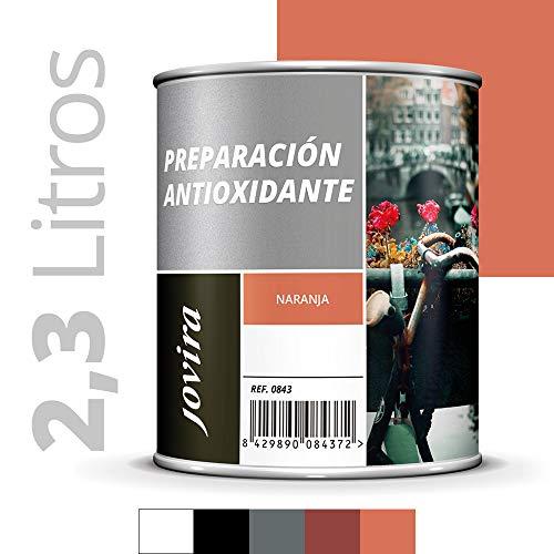 IMPRIMACION ANTIOXIDANTE METAL, Pintura tratamiento superficies de metal anti oxido. Imprimacion uso general, Proteccion total. Anti oxidante. (2.3 Litros, NARANJA)