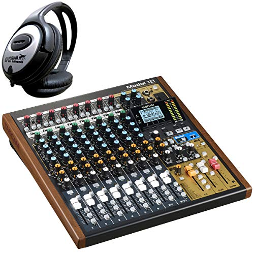 Tascam Model 12 Mischpult mit Audio-Interface + keepdrum Kopfhörer