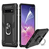 LeYi Galaxy S10 PLus Case with Ring Holder, Full Body