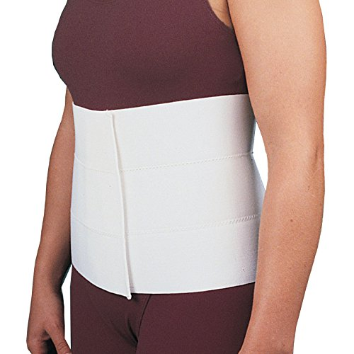 Rolyan Abdominal Binder, Medium, Comfortable Elastic Contours to Fit Body Shape, Wrap-Around Compression Support & Pain Relief Belt, Plush Back, Physical Therapy Aid, Orthopedic Rehabilitation