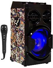 Music Life Altavoz Karaoke con Micrófono 15W USB Bluetooth Radio FM Portátil TF Card Recargable con Mando Luz Disco (Modelo 16)