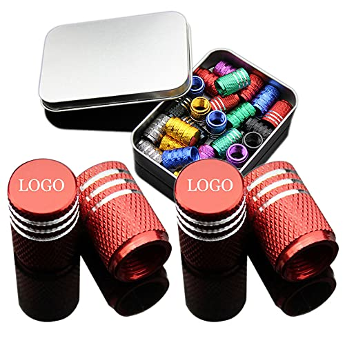 Acmxk Tapones de válvula de Coche para neumáticos de 4 Piezas para Land Rover, Tapones de vástago de válvula Impermeables a Prueba de Polvo, Material de aleación de Aluminio, Multicolor