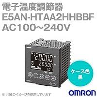 オムロン(OMRON) E5AN-HTAA2HHBBF 電子温度調節器 プログラムタイプ 端子台タイプ 単相・三相ヒータ用 AC100~240V ブラック (出力ユニット方式) NN