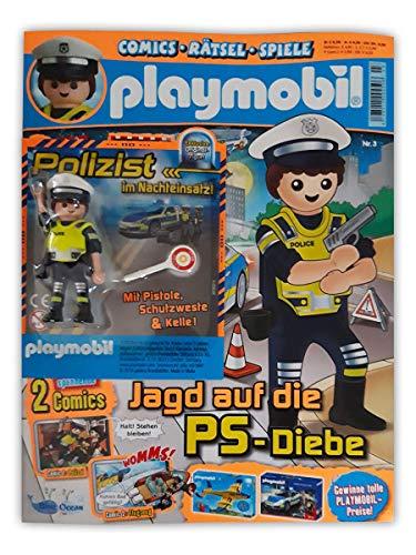 Playmobil Sammelmagazin Nr. 3/2019 inkl. Comics Rätsel Poster und limitierter Figur Polizist im Nachteinsatz