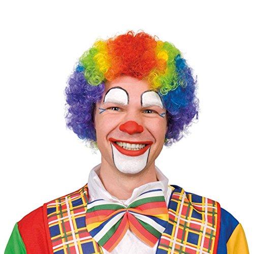 Rainbow Multicolore Perruque cheveux bouclés enfants filles garçons Fancy Party Costume de clown Sports Homme Femme