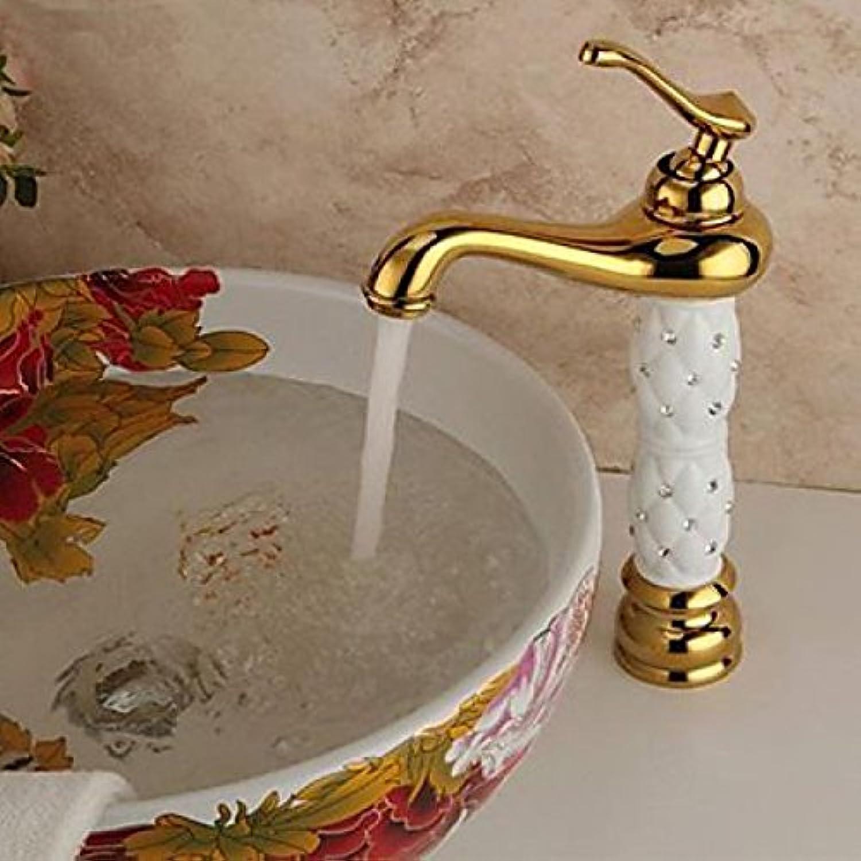 Robinet de lavabo avec mitigeur, style antique et finition en laiton (Ti-PVD)