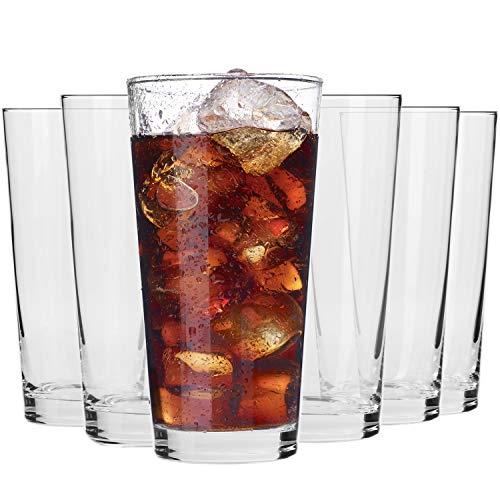 Krosno Wassergläser Saftgläser Trinkgläser | Set von 6 | 350 ML | Pure Kollektion | Perfekt für zu Hause, Restaurants und Partys | Spülmaschinenfest und Mikrowellengeeignet
