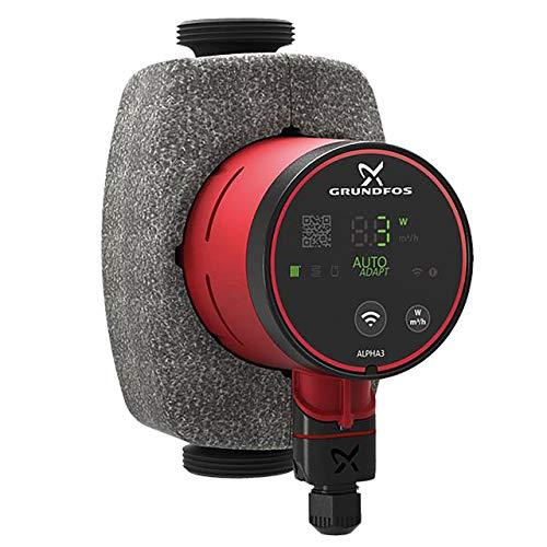 Grundfos Alpha3 HE-Umwälzpumpe 25-40 180 mm mit Bluetooth und Autoadapt Funktion 99371926