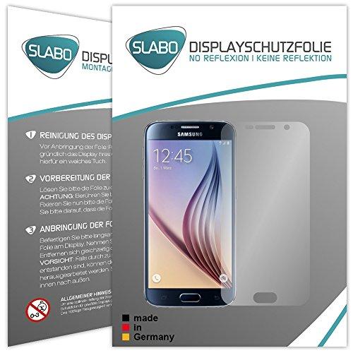 Slabo 2 x Displayfolie für Samsung Galaxy S6 Mini Displayschutzfolie Zubehör No Reflexion MATT