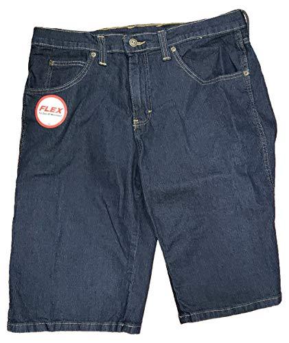 Dark Indigo Blue Denim Regular Fit Flex Denim Shorts - 40