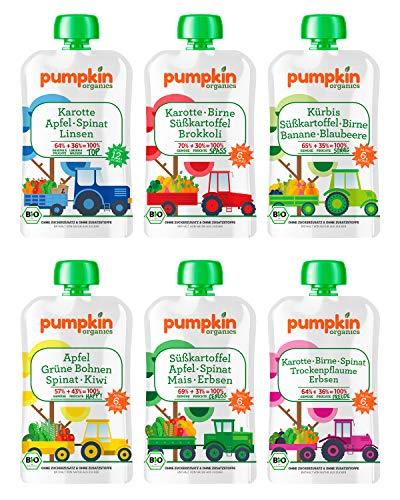 Bio Gemüse Quetschies - Pumpkin Organics QUERBEET (40 x 100g) - Snacks für Kinder ab 12. Monat
