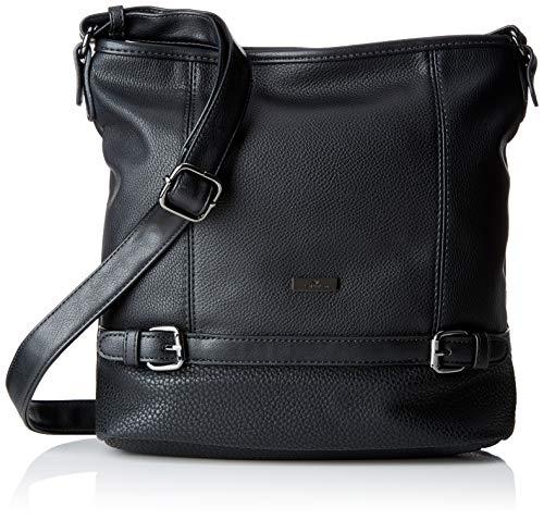 TOM TAILOR Shopper Damen, Juna, Schwarz, 30x28x10 cm, TOM TAILOR Taschen für Damen, Handtasche, Schultertasche, Hobo