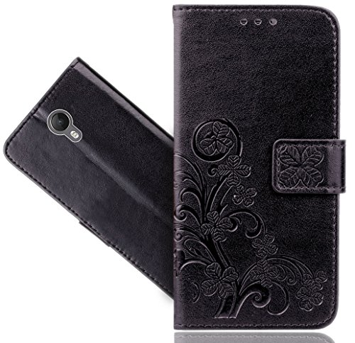 Wiko Jerry 2 Handy Tasche, FoneExpert® Wallet Hülle Cover Flower Hüllen Etui Hülle Ledertasche Lederhülle Schutzhülle Für Wiko Jerry 2