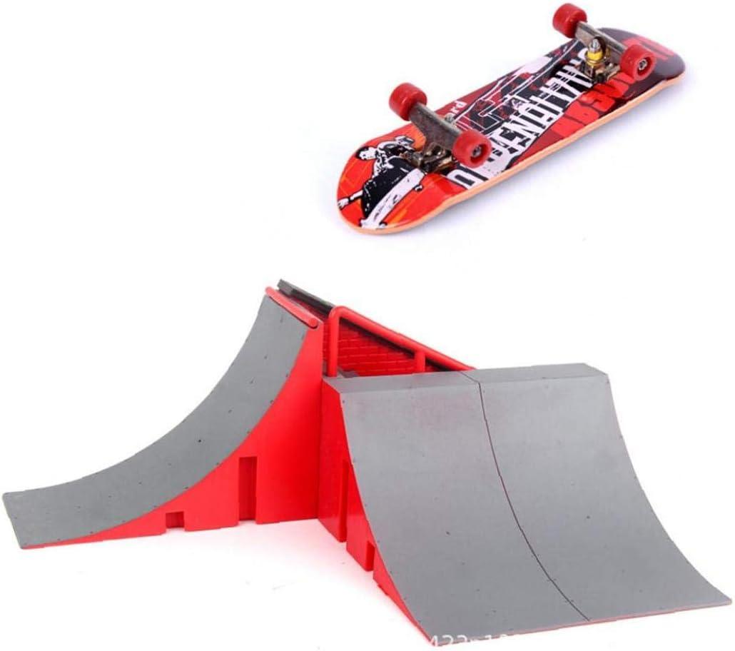 New product type EElabper Finger Skateboard Playground Toy Ramp Deluxe Skate Kit Pa Park