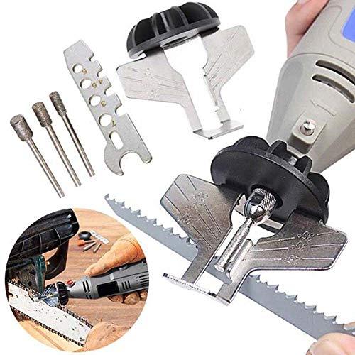 MZY1188 Kettensägenschärfer - Kettensägen-Schärfset , Elektroschleifer zum Schärfen von Sägezahn-Schleifwerkzeugen Set Polieraufsatz , Sägeketten-Werkzeugbohrer