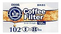 Nコーヒーフィルター 102 酵素漂白 100枚入