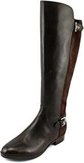 Wide Calf Tall Shaft Leather Boots Damsel Dark Brown 11M New A281483