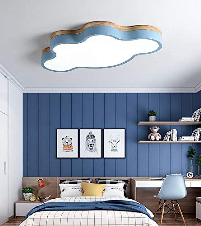 MackeJacke Nordic Wolken Einfache Moderne Lampen Macarons Ultradünne Led-Deckenleuchte 50  50Cm Blau Weies Licht