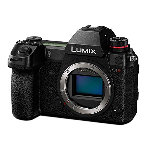 """Panasonic LUMIX S1R Full Frame Mirrorless Camera with 47.3MP MOS High Resolution Sensor, L-Mount Lens Compatible, 4K HDR Video and 3.2"""" LCD - DC-S1RBODY (Renewed)"""