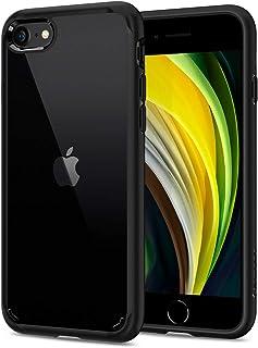 【Spigen】 iPhone SE ケース [第2世代] / iPhone8 / iPhone7 対応 新型 背面クリア 米軍MIL規格取得 耐衝撃 すり傷防止 ワイヤレス充電対応 SE2 アイフォンSE (2020年モデル) アイフォン8 アイフォン7 カバー シュピゲン ウルトラ・ハイブリッド2 042CS20926 (ブラック)