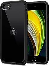 【Spigen】 iPhone SE ケース [第2世代] / iPhone8 / iPhone7 対応 新型 背面クリア 米軍MIL規格取得 耐衝撃 すり傷防止 ワイヤレス充電対応 SE2 アイフォンSE (2020年モデル) アイフォン8 アイフォン7 カバー シュピゲン ウルトラ・ハイブリッド 042CS20926 (ブラック)