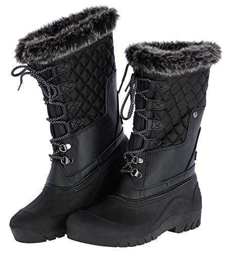 Kerbl Thermo Outdoorstiefel Bergen, Thermostiefel Kurzstiefel Warmfutter, 40