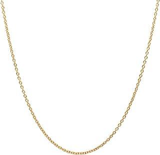 گردنبند زنجیره ای پیوند Rolo Rolo 10K طلای زرد 10K - ساخت کشور ایتالیا