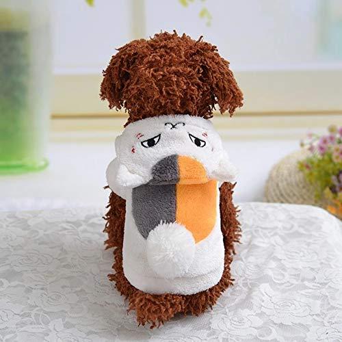 N/A Abrigo De Oso para Perros Ropa Pequeña De Dibujos Animados para Sudadera con Capucha para Mascotas Trajes Lindos De Otoño Yorkies Imprimir Mascotas Blancas