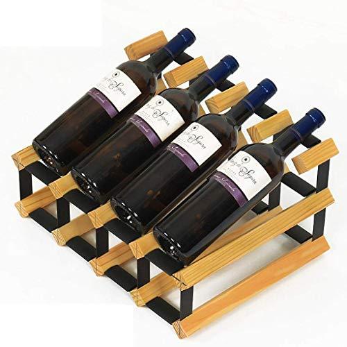YWYW Estante para Vino Estante para Vino, Bodega, Exhibidor de Vino, Estante para Vino de Madera Maciza Decoración (Color: A)