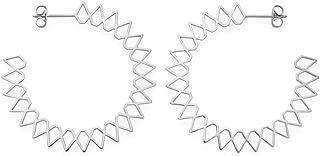 Rosefield Iggy Spike hoop - Pendientes para mujer (latón, talla única), color plateado
