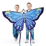 CLISPEED Cometas de mariposa fáciles de volar con herramientas de vuelo para niños parque de playa actividades al aire libre