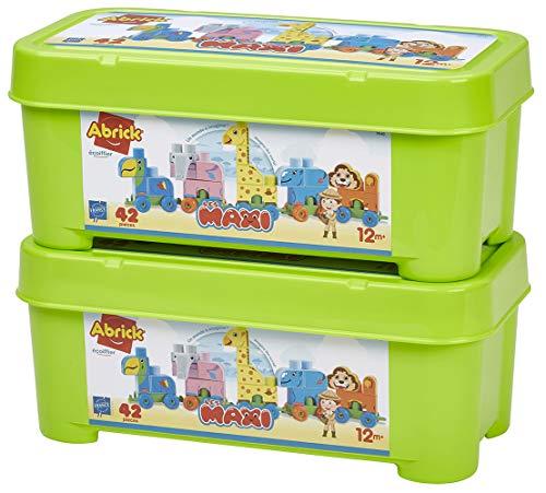Jouets Ecoiffier -7840 - Le train des animaux Abrick Maxi – Jeu de construction pour enfants – 42 pièces – Dès 12 mois – Fabriqué en France