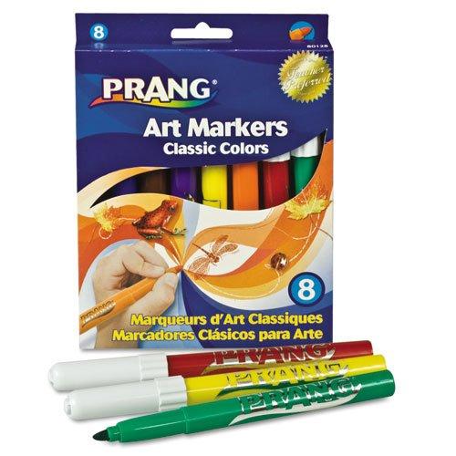 Dixon®–amphoe Prang Classic Art Marker, konische Spitze, acht Farben, 8/Pack–Verkauft als 1Set–GLEICHEN hellen, True Farben als watercolors-without des Chaos.