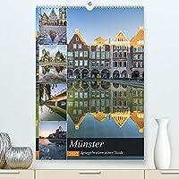 Muenster - Spiegelwelten einer Stadt (Premium, hochwertiger DIN A2 Wandkalender 2022, Kunstdruck in Hochglanz): Effektvolle Spiegelungen aus der schoenen Stadt Muenster. (Monatskalender, 14 Seiten )