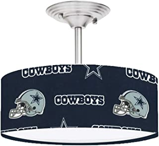 Navy Dallas Cowboys Football 13 Inches Ceiling Mount Light Fixture