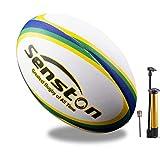 Senston Ballon de Rugby Taille 5 Soft Touch Ballon Rugby d'Entraînement