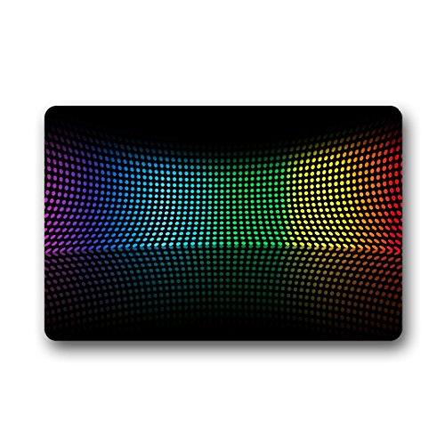 Doubee Adapter Neuf générique Mode Paillasson Design Arc-en-Ciel Rainbow Premium Tapis Anti-Poussière Maison passwort 46 cm x 76 cm, Tissu, E, 18\