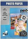 PPD A4 x 50 Hojas Papel Fotográfico Satinado Premium Plus de Alto Gramaje (290 g/m²) Para Impresoras de Inyección de Tinta Inkjet - PPD-124-50